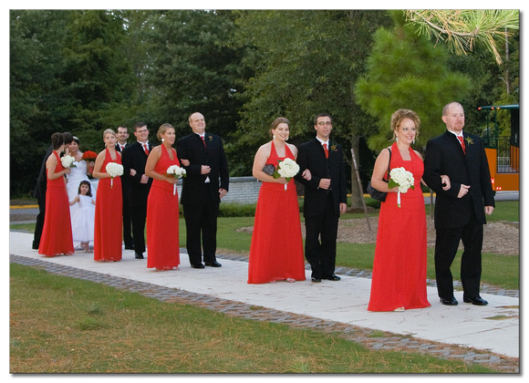 Wedding Party Reception Arrival